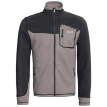 Marker Receptor Fleece Jacket - (For Men) in Graphite/Black - Closeouts