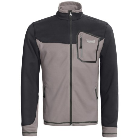 Marker Receptor Fleece Jacket - (For Men) in Graphite/Black