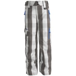 Marker Sabre Ski Pants - Insulated (For Boys) in Green Plaid