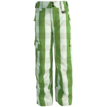 Marker Sabre Ski Pants - Insulated (For Boys) in Green Plaid - Closeouts