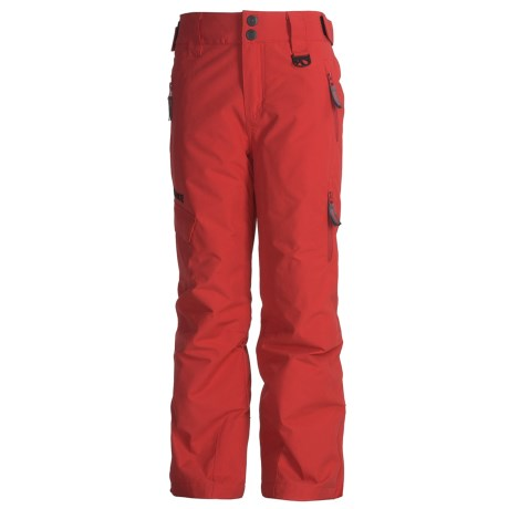Marker Shield Snow Pants - Insulated (For Boys) in Red