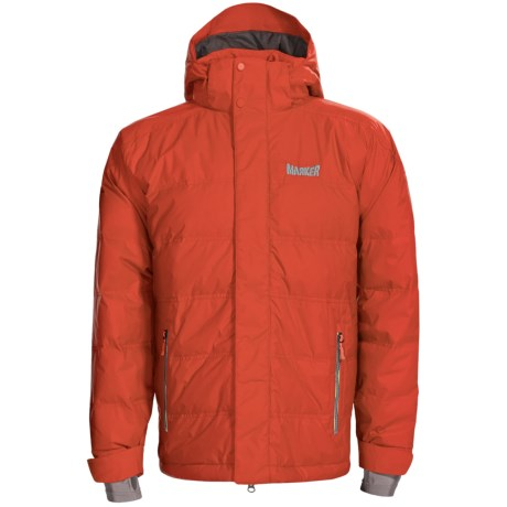 Marker Shroud Down Jacket - 600 Fill Power, Waterproof (For Men) in Orange