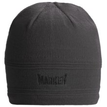 Marker Skull Beanie Hat (For Men and Women) in Grey - Closeouts