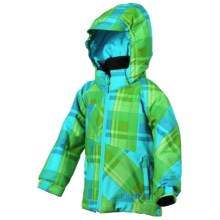 Marker Starlight Jacket - Insulated (For Little Girls) in Sky/White - Closeouts