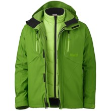 Marker Terrain Jacket - Waterproof, Insulated, 3-in-1 (For Men) in Green - Closeouts