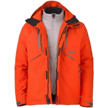 Marker Terrain Jacket - Waterproof, Insulated, 3-in-1 (For Men) in Orange - Closeouts