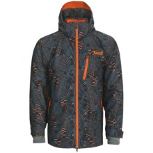 Marker Vertigo Print Ski Jacket - Waterproof, Insulated (For Men) in Orange - Closeouts