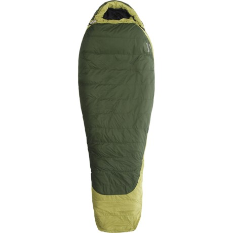 Marmot 20°F Flathead Down Sleeping Bag - Long Mummy, 600 Fill Power in Dark Cedar/Cash