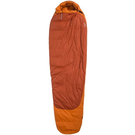 Marmot 5°F Rampart Down Sleeping Bag - 650 Fill Power, Long Mummy in Bonfire/Sauce