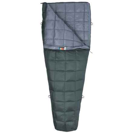 Marmot 50°F Micron Down Sleeping Bag - 650 Fill Power, Rectangular, Long, Cosmetic Seconds in Corcodile/Grey Storm - 2nds