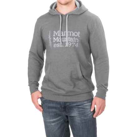 Marmot 74 Hoodie (For Men) in Slate Grey Heather - Closeouts