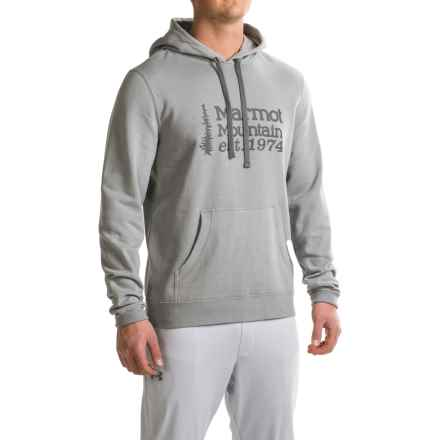 Marmot 74 Hoodie (For Men) in Steel Heather - Closeouts