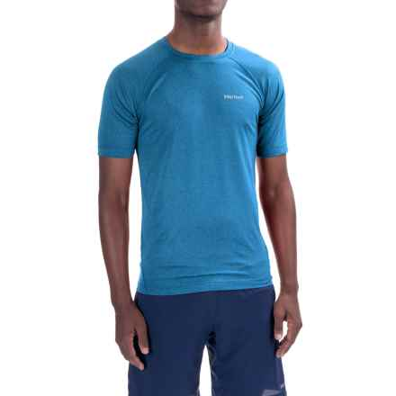Marmot Accelerate T-Shirt - UPF 30, Short Sleeve (For Men) in New True Blue Heather - Closeouts
