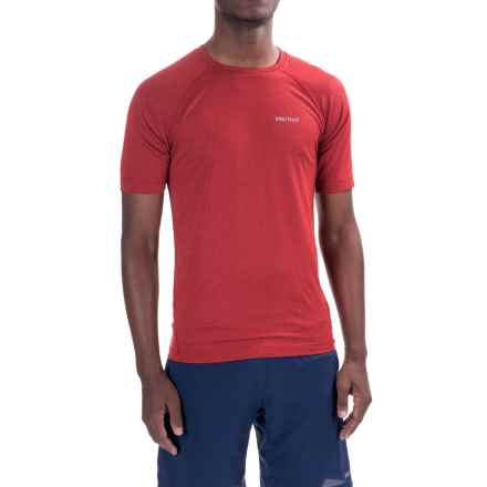 Marmot Accelerate T-Shirt - UPF 30, Short Sleeve (For Men) in True Team Red Heather - Closeouts