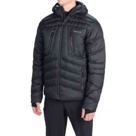 Marmot Aerial Hooded Down Jacket - 700 Fill Power (For Men) in Black - Closeouts