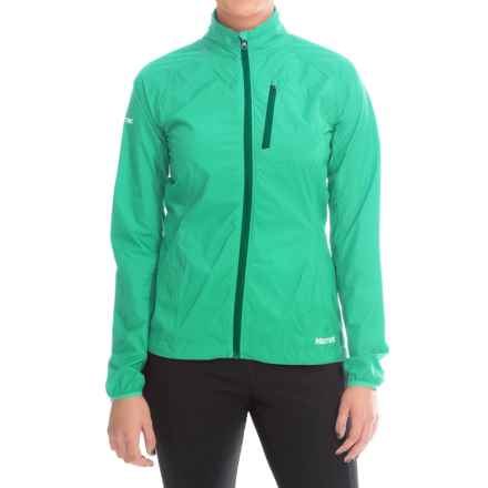 Marmot Aeris Wind Jacket (For Women) in Ice Green - Closeouts