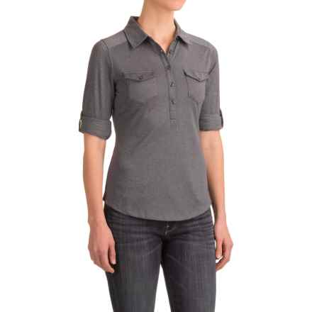 Marmot Allie Henley Shirt - UPF 20, Long Sleeve (For Women) in Dark Steel - Closeouts