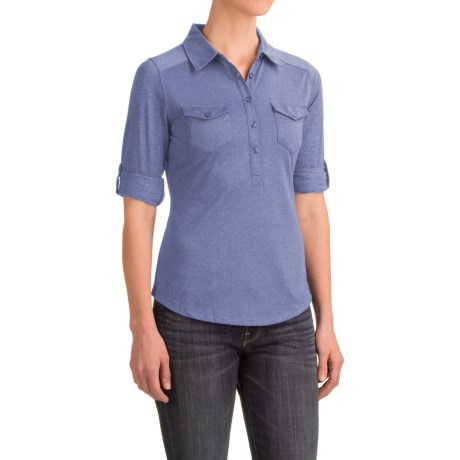 Marmot Allie Henley Shirt - UPF 20, Long Sleeve (For Women) in Dusty Denim