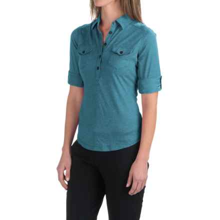 Marmot Allie Shirt - UPF 20, Long Sleeve (For Women) in Aqua Blue - Closeouts