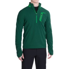 Marmot Alpinist Fleece Pullover - Zip Neck (For Men) in Deep Forest/Green Bean - Closeouts