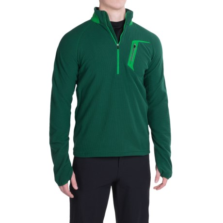 Marmot Alpinist Fleece Pullover - Zip Neck (For Men) in Deep Forest/Green Bean