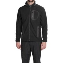 Marmot Alpinist Tech Fleece Jacket (For Men) in Black/Dark Granite - Closeouts