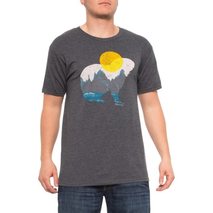 1133ea339 Marmot Alzon T-Shirt - Short Sleeve (For Men) in Charcoal Heather -