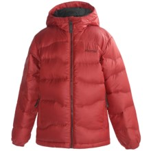 Marmot Ama Dablam Down Jacket - 650 Fill Power (For Boys) in Team Red/Black - Closeouts