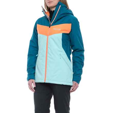 Marmot Ambrosia Ski Jacket - Waterproof, Insulated (For Women) in Blue Tint/Late Night - Closeouts