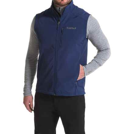 Marmot Approach Vest - Soft Shell (For Men) in Arctic Navy - Closeouts