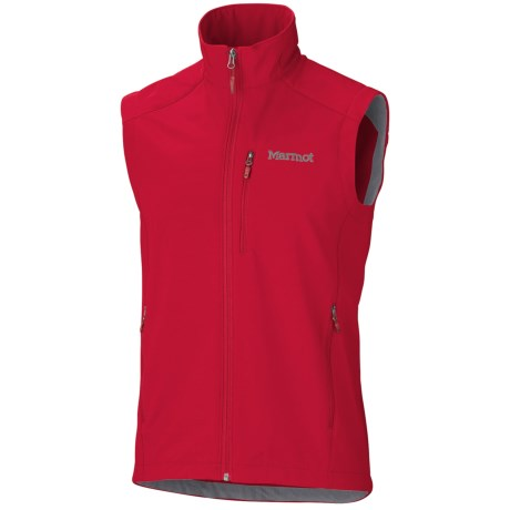 Marmot Approach Vest - Soft Shell (For Men) in Team Red