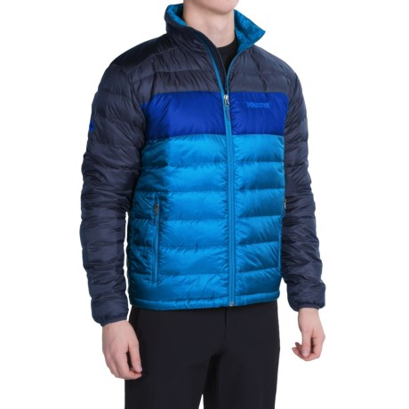Marmot Ares Down Jacket - 600 Fill Power (For Men) in Skyline Blue/Arctic Navy