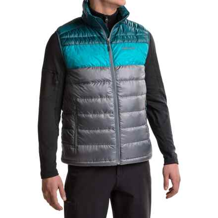 Marmot Ares Down Vest - 600 Fill Power (For Men) in Steel Onyx/Denim - Closeouts