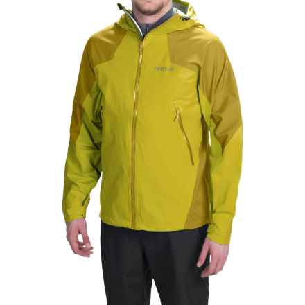 Marmot Artemis Jacket - Waterproof (For Men) in Yellow Vapor/Green Mustar - Closeouts