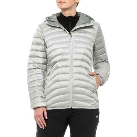 c7494c6dc5f Marmot Aruna Hooded Down Jacket - 600 Fill Power (For Women) in Bright Steel