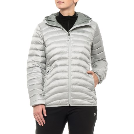 Marmot Aruna Hooded Down Jacket - 600 Fill Power (For Women) in Bright Steel 0d26141b59e7