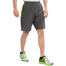 Marmot Ascend Shorts - UPF 30+, Built-In Liner (For Men) in Slate Grey/ Green Lime - Closeouts