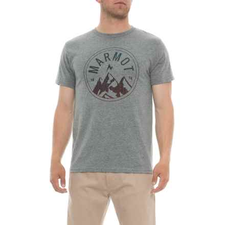 Marmot Ash Heather Perimeter T-Shirt - Short Sleeve (For Men) in Ash Heather - Closeouts