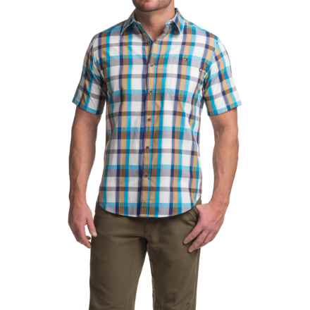 Marmot Asheboro Shirt - UPF 50, Short Sleeve (For Men) in Stellar Blue - Closeouts