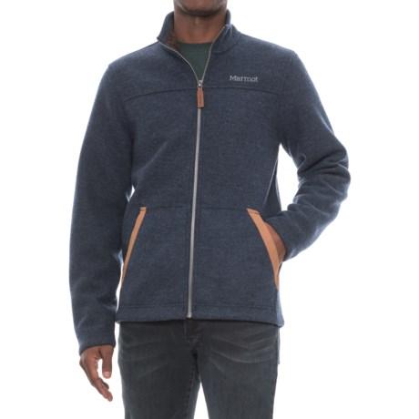 Marmot Bancroft Jacket - Fleece Lined (For Men) in Dark Indigo Heather