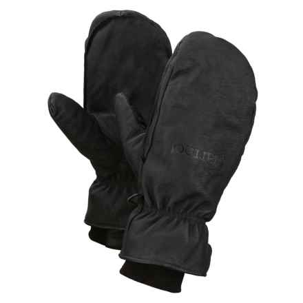 Marmot Basic Ski Mittens - Leather, Insulated (For Men) in Black - Closeouts