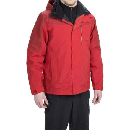 Marmot Bastione MemBrain® Jacket - Waterproof, 3-in-1 (For Men) in Fire/Dark Crimson - Closeouts