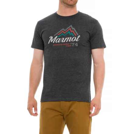 Marmot Beams T-Shirt - Short Sleeve (For Men) in Charcoal Heather - Closeouts
