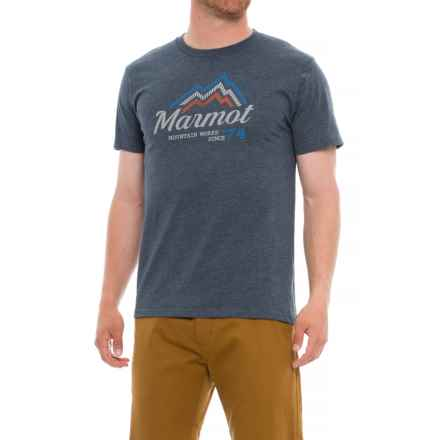 Marmot Beams T-Shirt - Short Sleeve (For Men) in Navy Heather - Closeouts