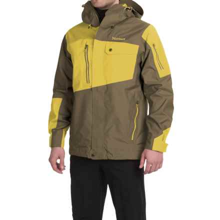 Marmot Boot Pack MemBrain® Ski Jacket - Waterproof (For Men) in Brown Moss/Yellow Vapor - Closeouts