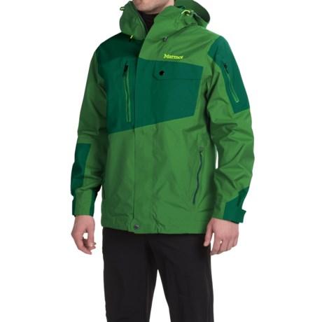 Marmot Boot Pack MemBrain® Ski Jacket - Waterproof (For Men) in Green Bean/Deep Forest