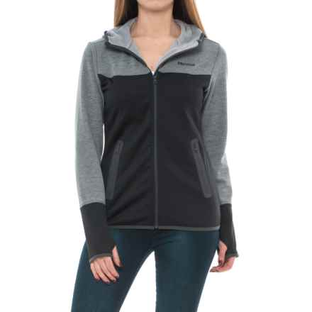 Marmot Bridgeport Fleece Hoodie (For Women) in Black/Dark Steel - Closeouts