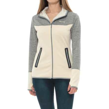 Marmot Bridgeport Fleece Hoodie (For Women) in Cream/Cream Grey Storm - Closeouts