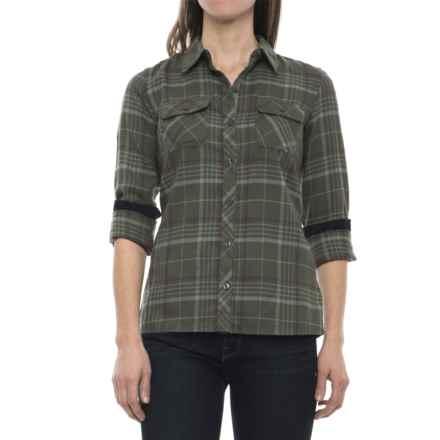 Marmot Bridget Twill Flannel Shirt - UPF 50+, Long Sleeve (For Women) in Beetle Green - Closeouts
