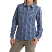 Marmot Bridget Twill Flannel Shirt - UPF 50+, Long Sleeve (For Women) in Gemstone - Closeouts
